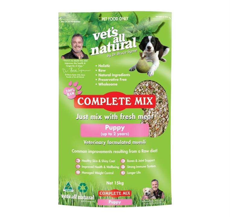 Vets All Natural Complete Mix Muesli for Fresh Meat for Puppies up to 2 years - 15kg