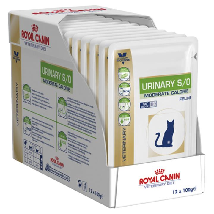 Royal Canin Prescription Urinary S/O Moist Cat Food - Moderate Calorie x 12 pouches
