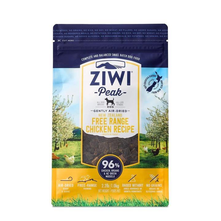 Ziwi Peak Air Dried Dog Food 1kg Pouch - Free Range Chicken