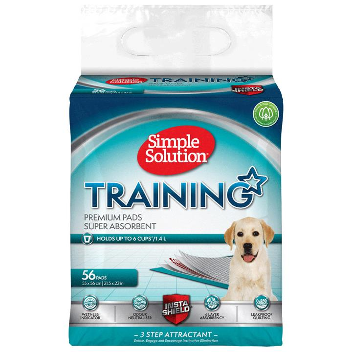 Simple Solution Super Absorbent Odour Neutralising Dog Training Pads - 56 Pads