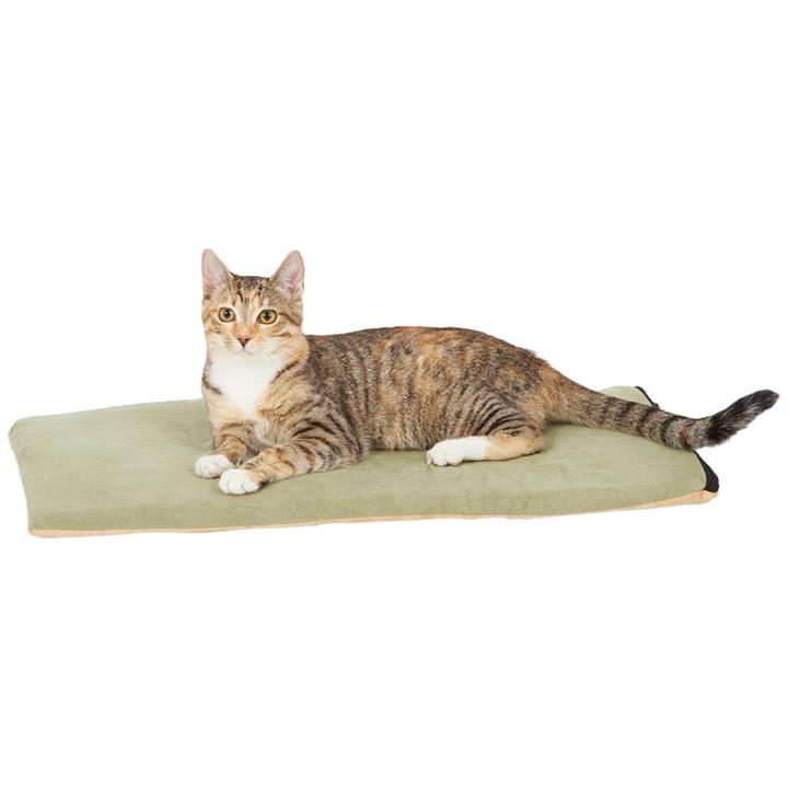 K&H Thermo Kitty Low-Voltage Heated Pet Mat in Sage Green