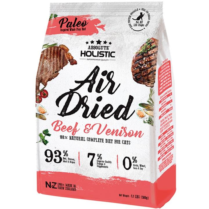Image of Absolute Holistic Air Dried Cat Food Beef & Venison 500gm