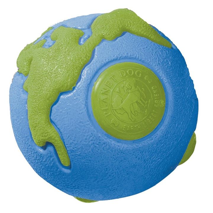 Planet Dog Orbee Ball Tough Floating Dog Toy Blue & Green - Medium