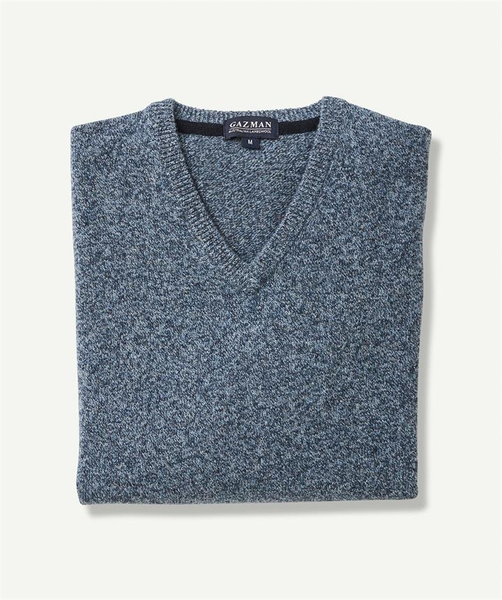 LAMBSWOOL V NECK Ink 6XL