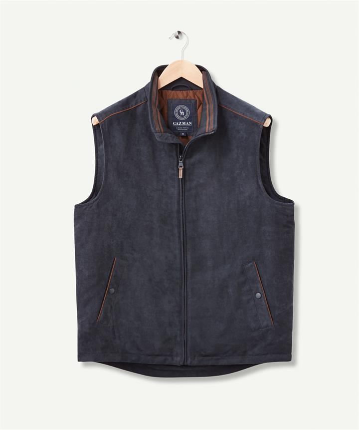 SUEDE TOUCH VEST Navy S