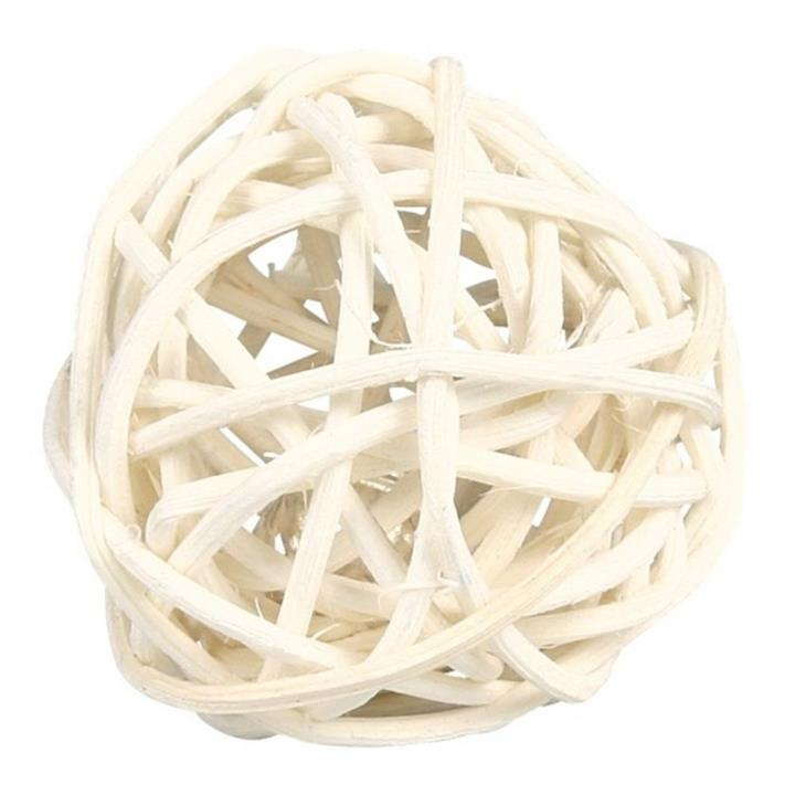 Trixie Small Animal Wicker Ball with Bell 4cm
