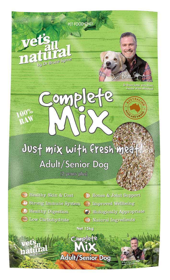 Vets All Natural 15kg Complete Mix Adult Senior