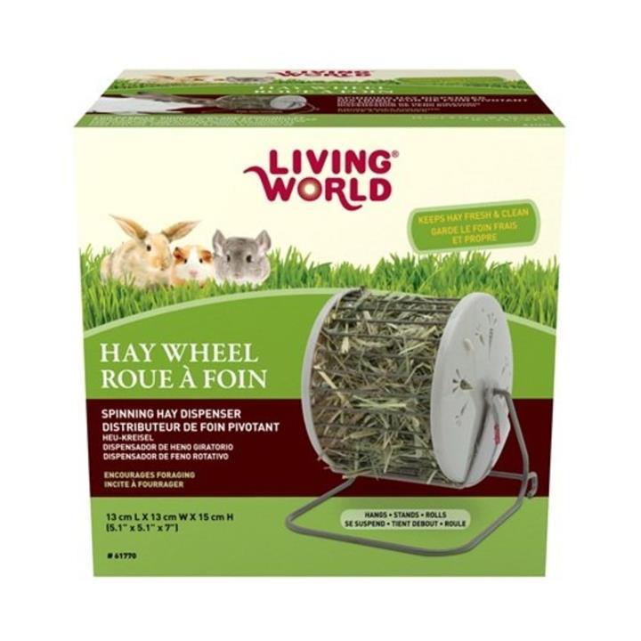 Living World Small Animal Hay Wheel