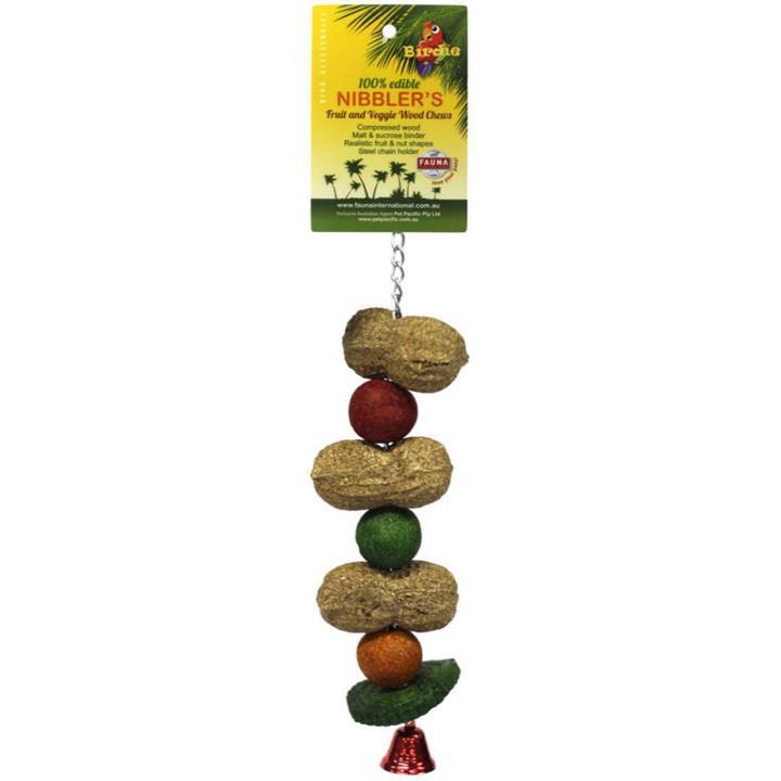 Birdie Nibbler Peanut & Melon Ball Bird Kabob Large