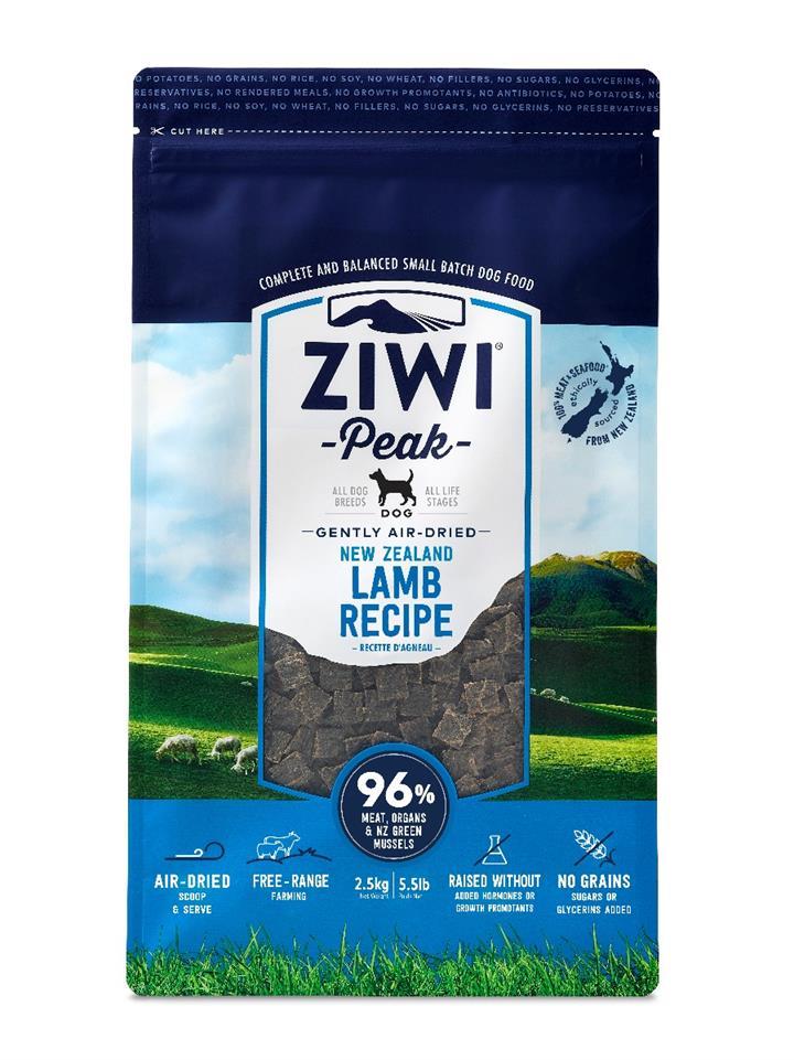ZiwiPeak Air Dried Dog Food Lamb 2.5kg