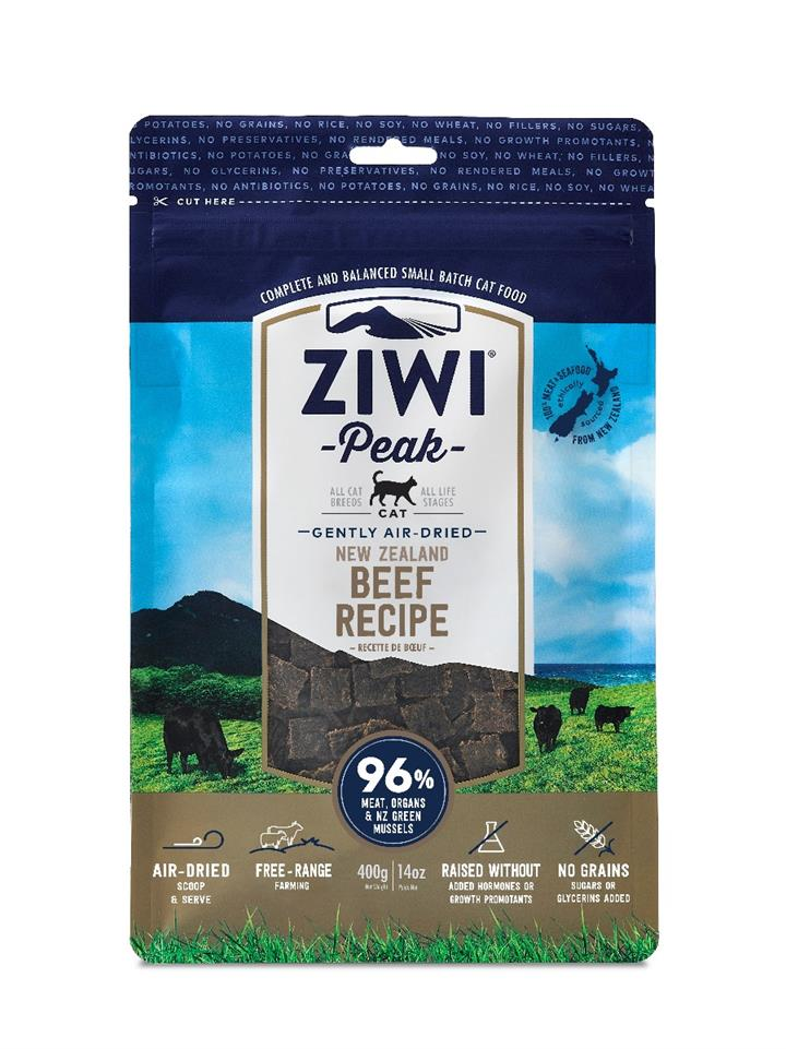 ZiwiPeak Air Dried Cat Food Beef 400g