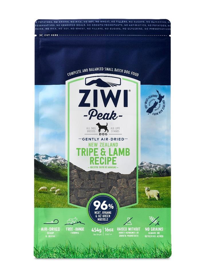 ZiwiPeak Air Dried Dog Food Tripe & Lamb 454g
