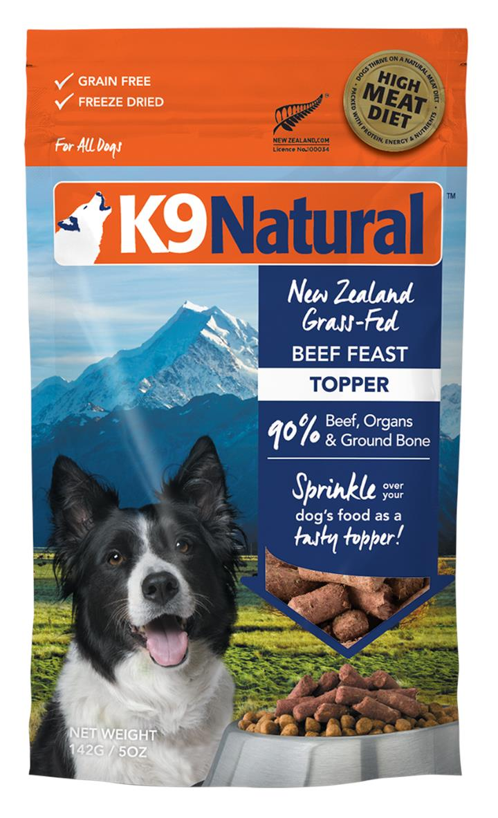 K9 Natural Freeze Dried Beef Feast Topper 142g