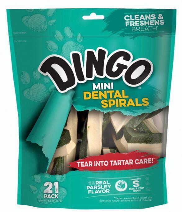 Dingo Dental Mini Spiral Dog Treats 147g
