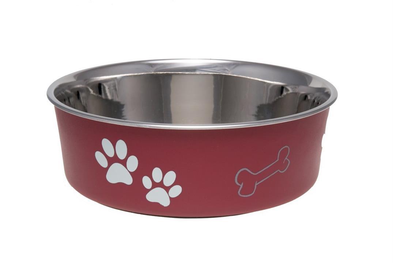 Loving Pets Bella Dog Bowl Merlot Large