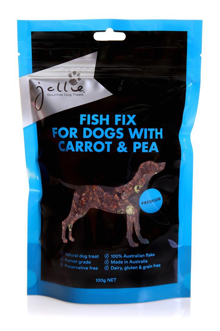 Jollie Fish Fix with Carrot & Peas Dog Treats 100g