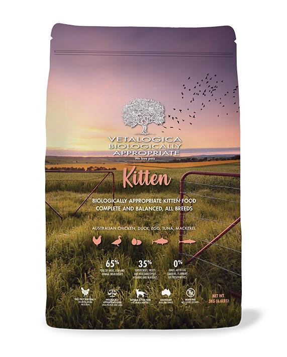 Vetalogica Biologically Appropriate Kitten Food 3kg