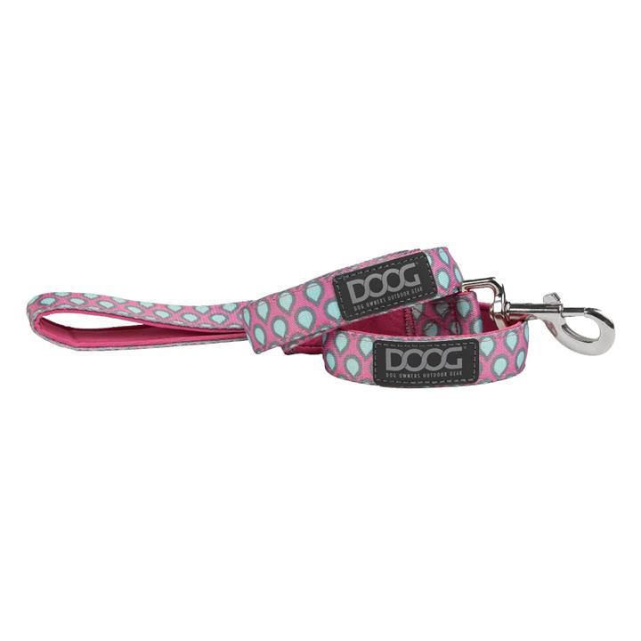 Doog Luna Dog Lead Large Pink with Tear Drops