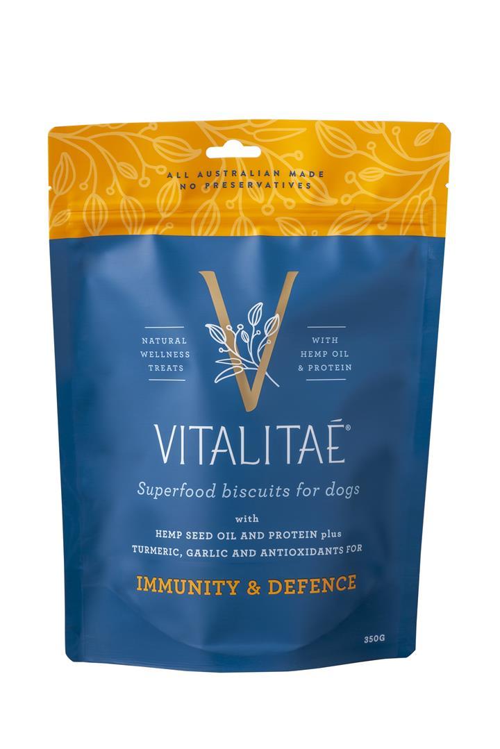 Vitalitae Biscuits Immune & Defense Superfood Dog Treat 350g