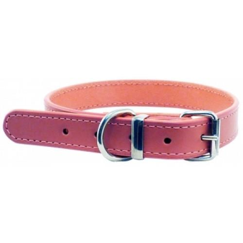 Beau Pets Deluxe Sewn Leather Dog Collar Pink 35cm