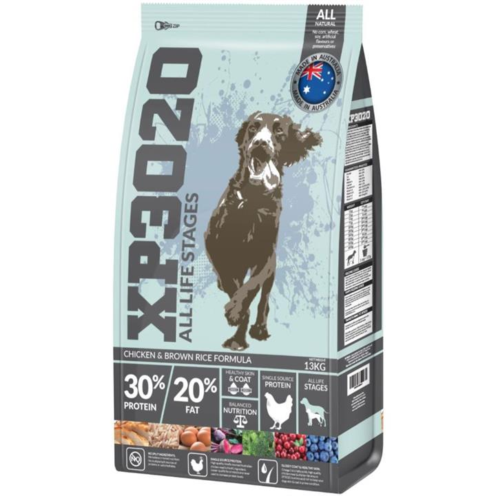 XP3020 All Life Stage Premium Chicken & Brown Rice Dry Dog Food 13kg