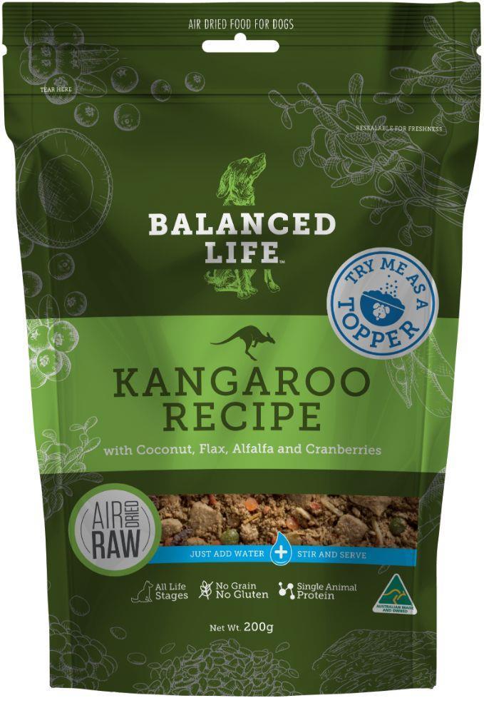 Balanced Life Adult Rehydratable Kangaroo Dry Dog Food Topper 200g