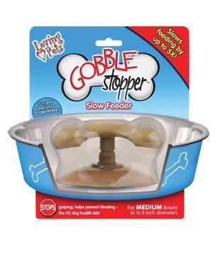 Loving Pets Gobble Stopper Slow Feeder For Bowls Medium