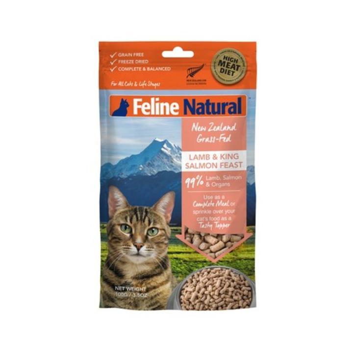 Feline Natural Freeze Dried Lamb & King Salmon Feast Cat Food 100g