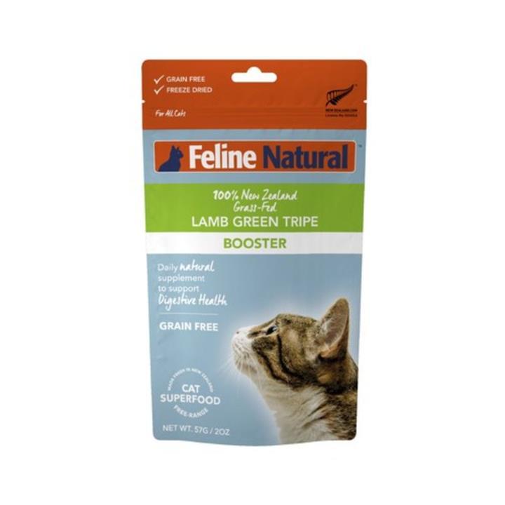 Feline Natural Freeze Dried Lamb Green Tripe Cat Booster 57g