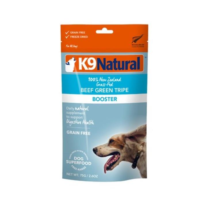 K9 Natural Freeze Dried Beef Green Tripe Dog Food Topper 75g