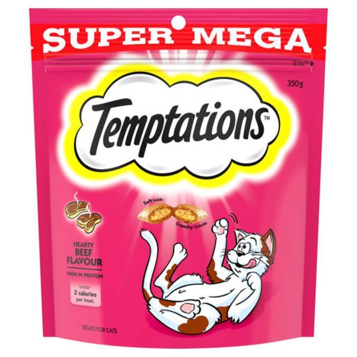 Temptations Hearty Beef Cat Treat 350g