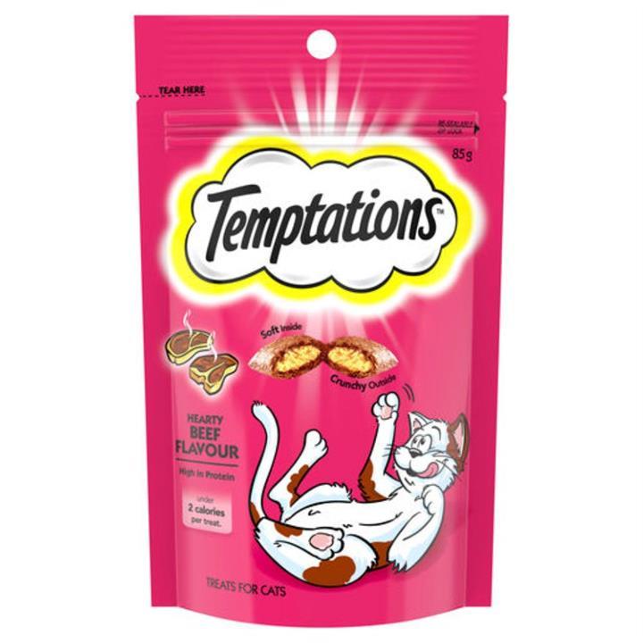 Temptations Hearty Beef Cat Treat 85g