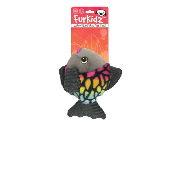 FurKidz Carnival Fish with Action Fins Dog Toy