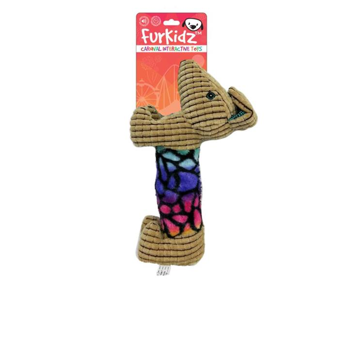 FurKidz Carnival Dog with Action Ear Dog Toy