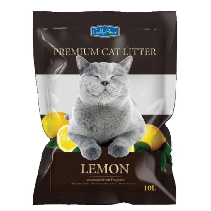Cuddly Paws Bentonite Cat Litter Lemon 10L