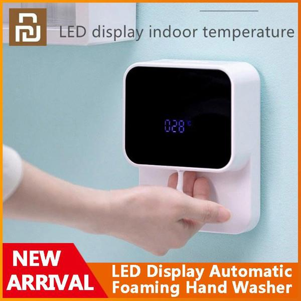 Original Xiaomi Youpin LED Display Automatic Induction Foaming Hand Washer Sensor Foam Household Infrared Sensor For Homes Mall WC