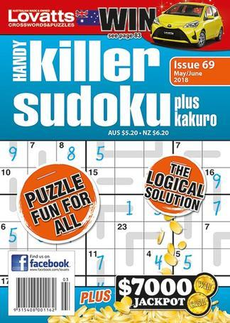 Lovatts Handy Killer Sudoku magazine