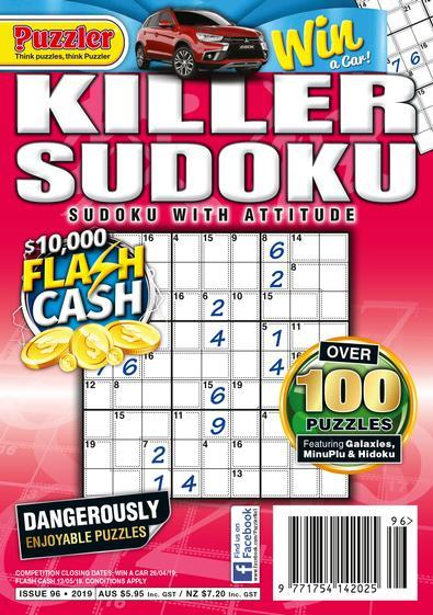 Magazine : Killer Sudoku Magazine 12 Month Subscription