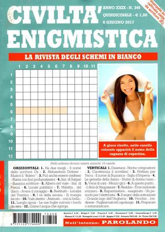 Magazine : Civilita Enigmistica (Italy) Magazine 12 Month Subscription