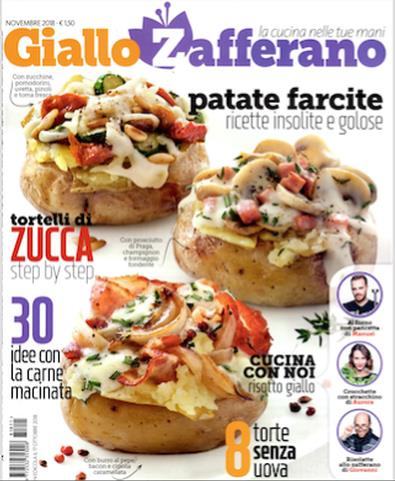 Magazine : Giallo Zafferano (Italy) Magazine 12 Month Subscription
