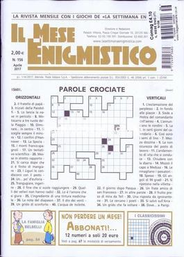 Magazine : Il Mese Enigmistica Magazine 12 Month Subscription