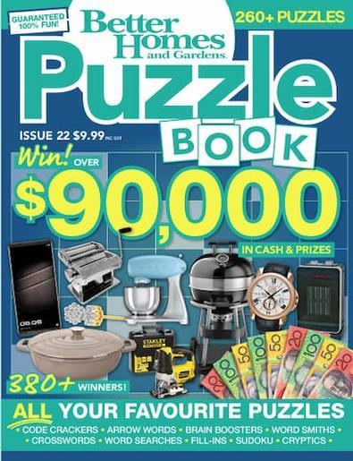 Magazine : Better Homes and Gardens Puzzle Book Magazine 12 Month Subscription