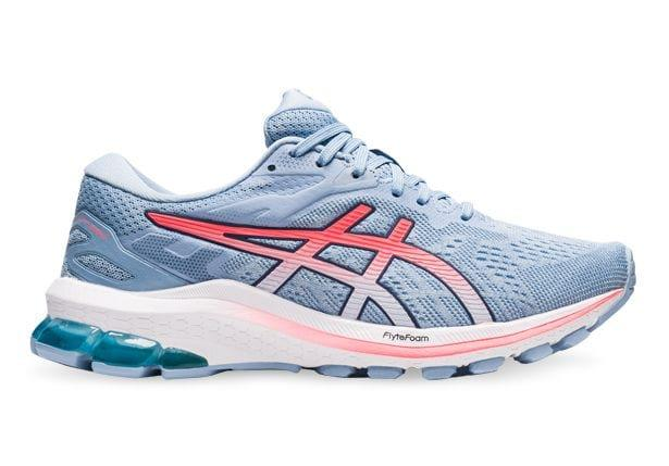 Image of ASICS GT-1000 10 (D) WOMENS SOFT SKY BLAZING CORAL