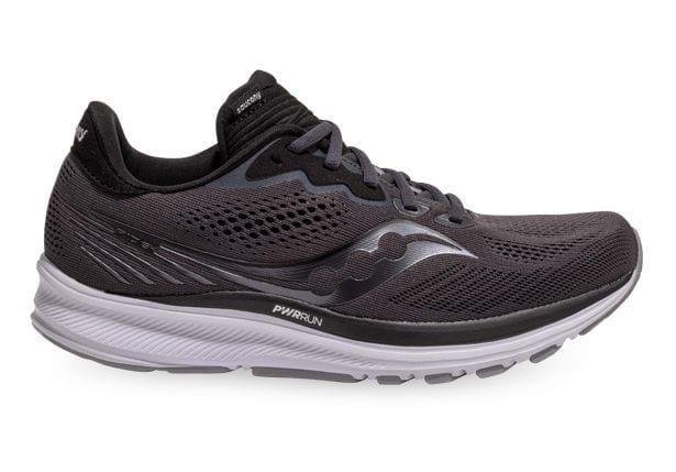 Image of SAUCONY RIDE 14 WOMENS CHARCOAL BLACK