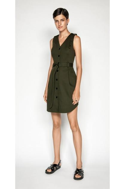 Image of Cue Women's Utility Snap Front Dress