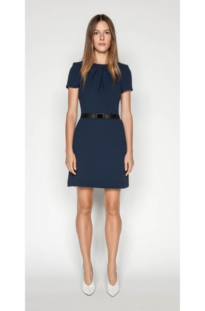 Image of Cue Women's Crepe Belted Shift Dress