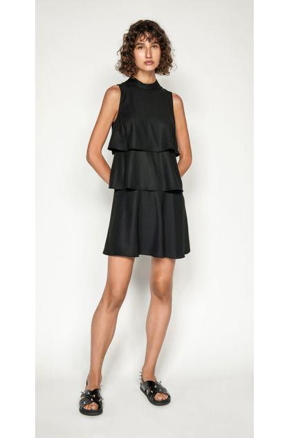 Image of Cue Women's Crepe Tiered Dress