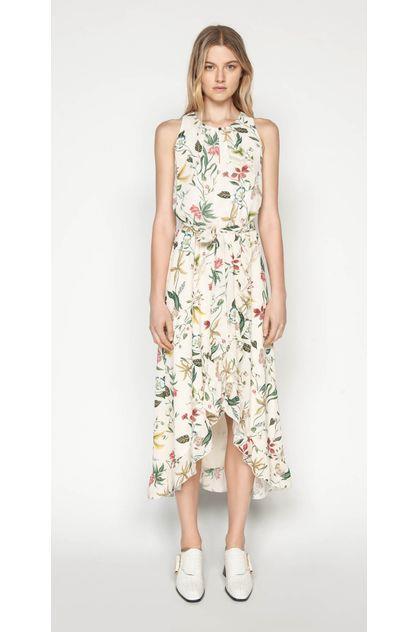 Image of Cue Women's Illustrated Botanic Midi Dress