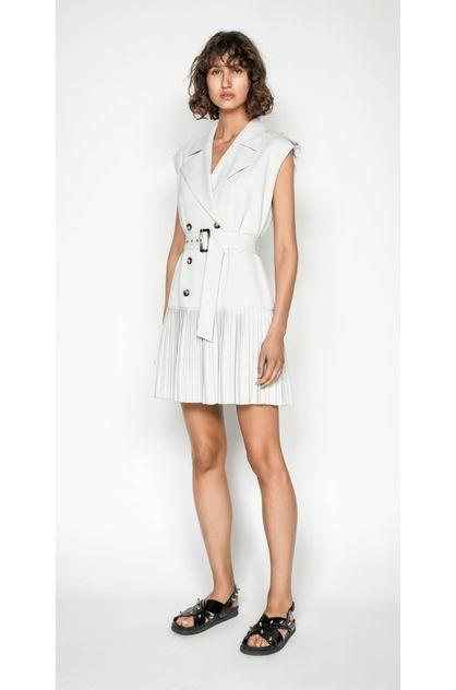 Image of Cue Women's Silver Trench Dress