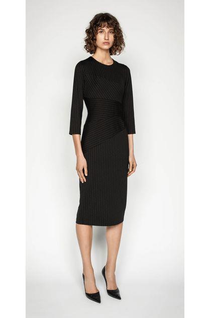 Image of Cue Women's Striped Spliced Pencil Dress